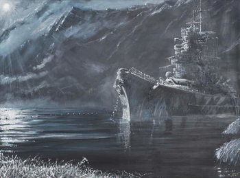 Tirpitz The Lone Queen Of The North 1944, 2007, Canvas Print