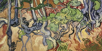 Tree roots, 1890 Canvas Print