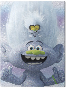 Trolls World Tour - Guy Diamond and Tiny Canvas Print