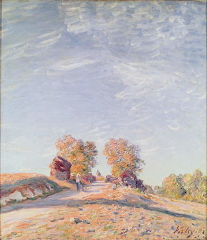 Uphill Road in Sunshine, 1891 Canvas Print