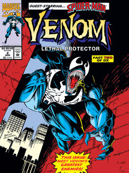 Venom - Lethal Protector Comic Cover Canvas Print