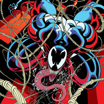 Venom - Symbiote free fall Canvas Print