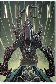 Vetřelec (Alien) - Green Canvas Print