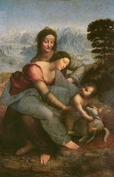 Virgin and Child with St. Anne, c.1510 Canvas Print