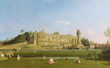 Warwick Castle, c.1748-49 Canvas Print