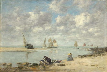 Washerwoman near Trouville, c.1872-6 Canvas Print