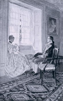 Washington and Mary Philipse, illustration from 'Colonel Washington' by Woodrow Wilson, pub. in Harper's Magazine, 1896 Canvas Print