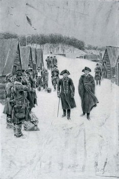 Washington and Steuben at Valley Forge, illustration from 'General Washington' by Woodrow Wilson, pub. in Harper's Magazine, July 1896 Canvas Print