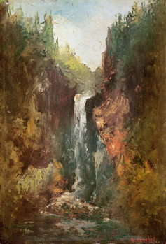 Waterfall (also known as the La Chute de Conches), 1873 Canvas Print
