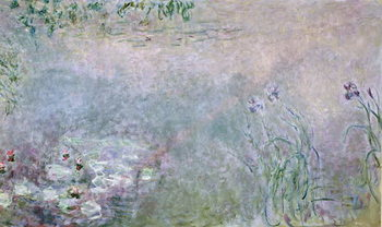 Waterlilies (detail of upper section), c.1910 Canvas Print