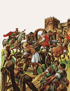 When the Britons Fought against the Roman Armies Canvas Print