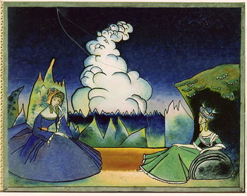 White Cloud, 1918 Canvas Print