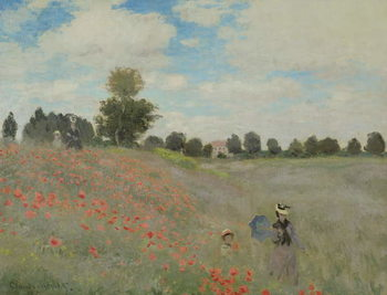 Wild Poppies, near Argenteuil (Les Coquelicots: environs d'Argenteuil), 1873 Canvas Print