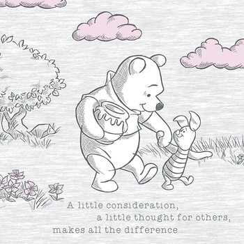 Winnie The Pooh - A Little Consideration Canvas Print