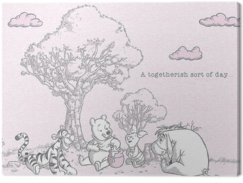 Winnie The Pooh - Togetherish Canvas Print