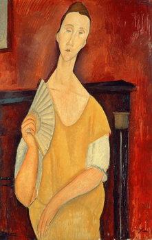 Woman with a Fan (Lunia Czechowska) 1919 Canvas Print
