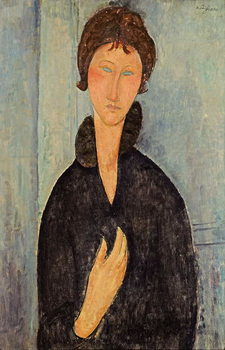 Woman with Blue Eyes, c.1918 Canvas Print