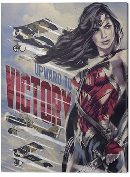 Wonder Woman - Upward To Victory Canvas Print