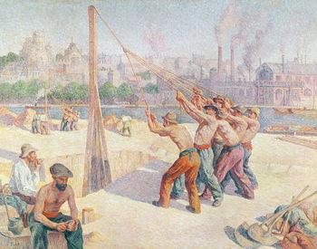 Workers on the Quai de la Seine at Billancourt, 1902-3 Canvas Print