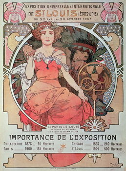 Canvas-taulu A Poster for the World Fair, St. Louis, United States, 1904