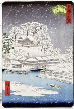Canvas-taulu A village under the snow, Japan
