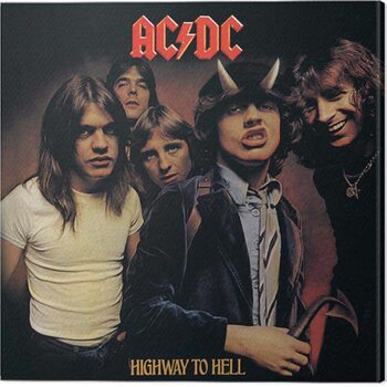Canvas-taulu AC/DC - Higway in the Hell