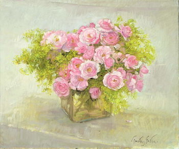 Canvas-taulu Alchemilla and Roses, 1999