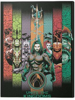Canvas-taulu Aquaman - Unite the Kingdoms