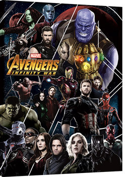 Canvas-taulu Avengers Infinity War - Heroes Unite