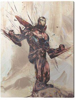 Canvas-taulu Avengers: Infinity War - Iron Man Sketch