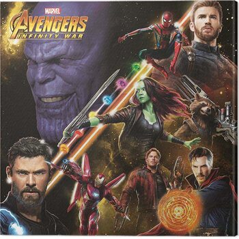 Canvas-taulu Avengers: Infinity War - Space Montage