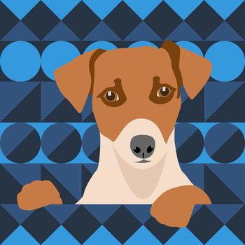 Canvas-taulu Aztec Dog