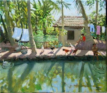 Canvas-taulu Backwaters, India