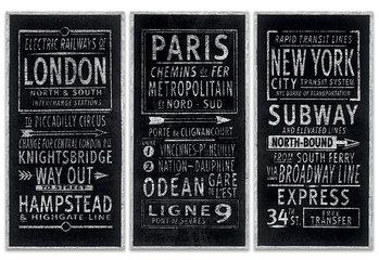 Barry Goodman - London Paris New York Canvas-taulu