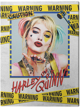 Birds Of Prey: And the Fantabulous Emancipation Of One Harley Quinn - Harley Quinn Warning Canvas-taulu