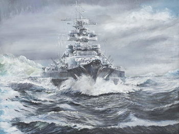 Canvas-taulu Bismarck off Greenland coast 23rd May 1941, 2007,