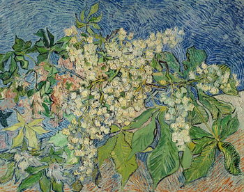Canvas-taulu Blossoming Chestnut Branches, 1890