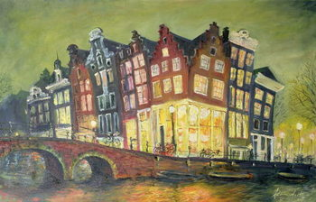 Canvas-taulu Bright Lights, Amsterdam, 2000