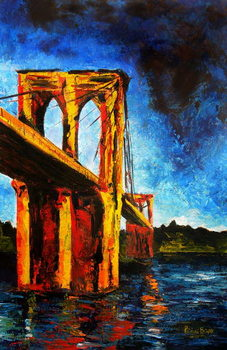 Canvas-taulu Brooklyn Bridge to Utopia, 2009