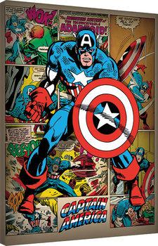 Canvas-taulu Captain America - Retro