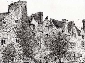 Canvas-taulu Castle ruin Hay on Wye, 2007,