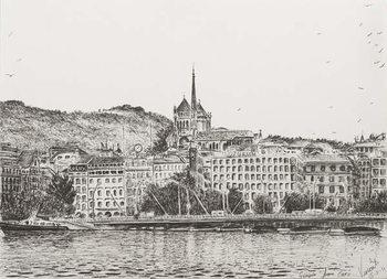 Canvas-taulu City of Geneva, 2011,