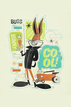 Canvas-taulu Cool Bugs Bunny