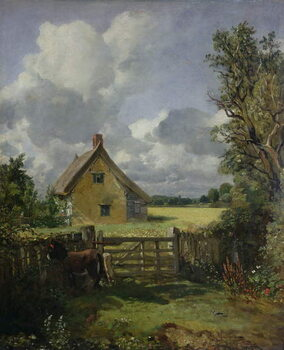 Canvas-taulu Cottage in a Cornfield