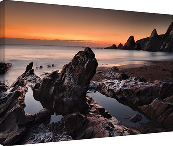 David Clapp - Westcombe Bay, Devon Canvas-taulu