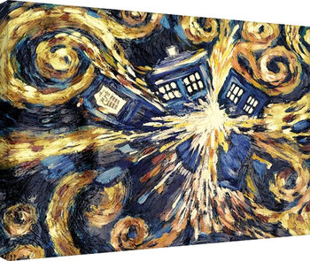 Canvas-taulu Doctor Who - Exploding Tardis