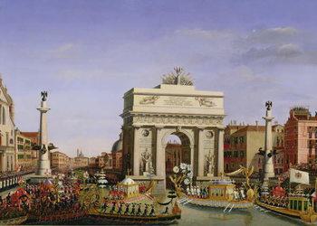 Canvas-taulu Entry of Napoleon I (1769-1821) into Venice, 1807