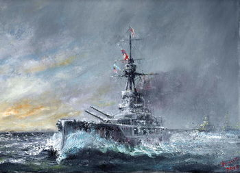 Canvas-taulu Equal-Speed-Charlie-London, Jutland 1916, 2015,