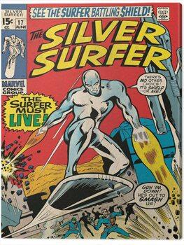 Canvas-taulu Fantastic Four 2: Silver Surfer - Must Live