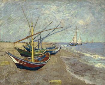 Fishing Boats on the Beach at Saintes-Maries-de-la-Mer, 1888 Canvas-taulu